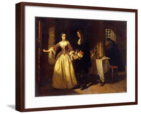 The Parting of Lord William and Lady Rachel Russell in 1683-Charles Lucy-Framed Art Print