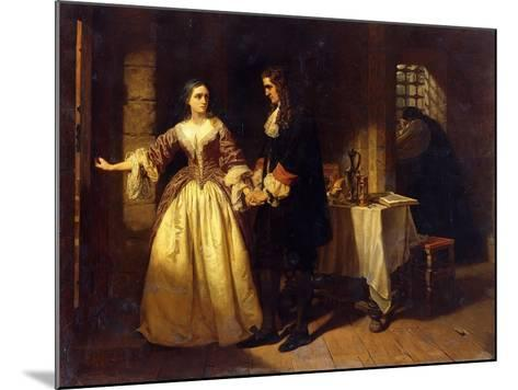 The Parting of Lord William and Lady Rachel Russell in 1683-Charles Lucy-Mounted Giclee Print