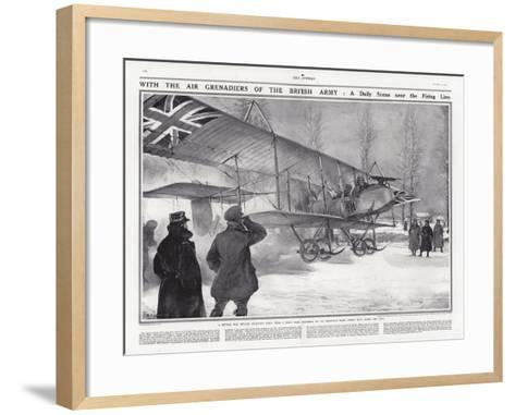 British Biplane at an Airfield Near Hollebeke, Belgium, World War I-Addison Thomas Millar-Framed Art Print