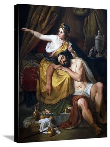 Samson and Delilah, 1851-Jose Salome Pina-Stretched Canvas Print