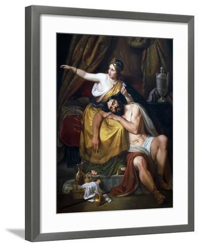 Samson and Delilah, 1851-Jose Salome Pina-Framed Art Print