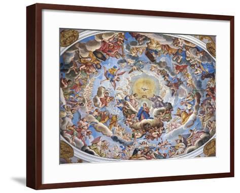 Coronation of the Virgin-Giuseppe Mattia Borgnis-Framed Art Print