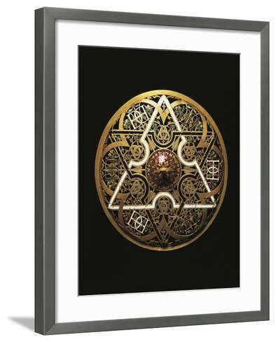 Gold Lid from Cup in Rock Crystal and Enameled Gold-Gasparo Miseroni-Framed Art Print