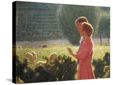 Romantic Walk, 1901-1902-Giuseppe Pellizza da Volpedo-Stretched Canvas Print