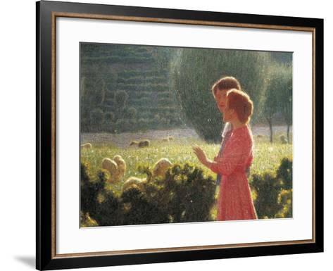 Romantic Walk, 1901-1902-Giuseppe Pellizza da Volpedo-Framed Art Print