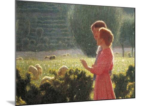 Romantic Walk, 1901-1902-Giuseppe Pellizza da Volpedo-Mounted Giclee Print