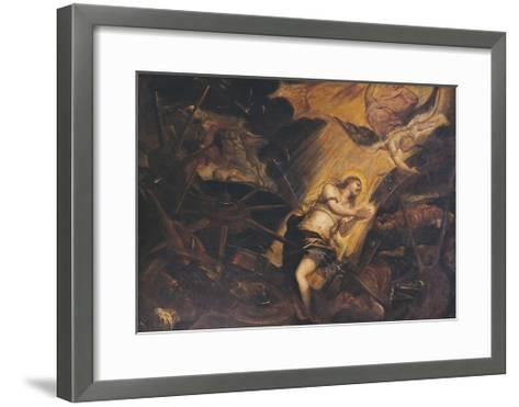 The Martyrdom of St Catherine-Jacopo Robusti-Framed Art Print