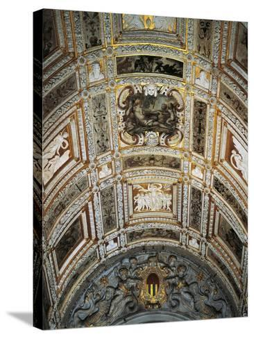 Ceiling of Golden Staircase at Doge's Palace-Jacopo Sansovino-Stretched Canvas Print