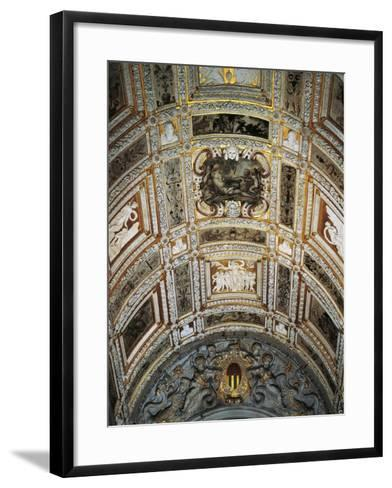 Ceiling of Golden Staircase at Doge's Palace-Jacopo Sansovino-Framed Art Print
