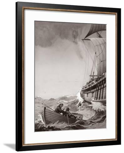 Two King's Messengers Attempt to Row into the Harbour at Calais-Pat Nicolle-Framed Art Print
