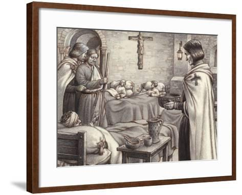 Godfrey De Bouillon Watches Benedictine Monks Caring for the Wounded-Pat Nicolle-Framed Art Print