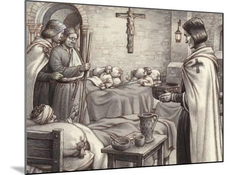 Godfrey De Bouillon Watches Benedictine Monks Caring for the Wounded-Pat Nicolle-Mounted Giclee Print