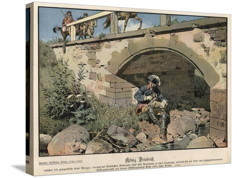 Frederick the Great of Prussia Hiding from the Enemy-Carl Rochling-Stretched Canvas Print