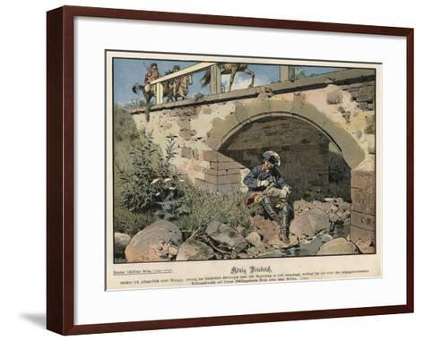 Frederick the Great of Prussia Hiding from the Enemy-Carl Rochling-Framed Art Print