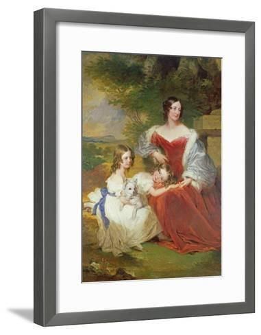 T32011 Portrait of Mrs Sarah Frances Cooper and Her Daughters-Frederick Richard Say-Framed Art Print