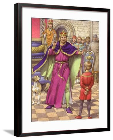 A Young Boy Was Employed to Tell King Henry That His Son Was Dead-Pat Nicolle-Framed Art Print