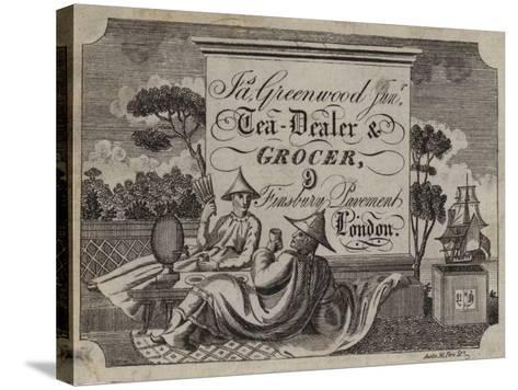 Tea Dealer and Grocer, James Greenwood, Trade Card--Stretched Canvas Print