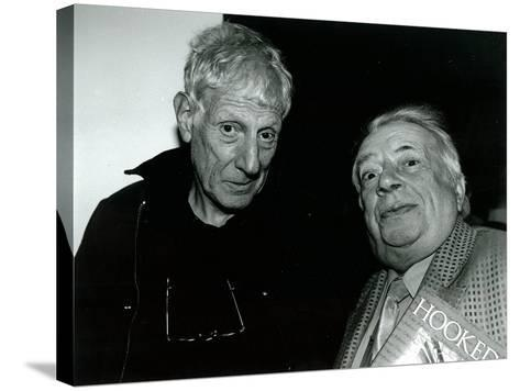 Jonathan Miller and George Melly, Mayor Gallery, 2004--Stretched Canvas Print