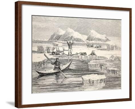 Eskimos Imitating Animals to Induce Europeans to Approach, 1859-Allen Young-Framed Art Print