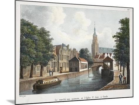 Le Marché Aux Poissons, Et L'Eglise St Jean À Gouda, C.1895--Mounted Giclee Print