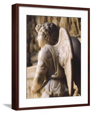Angel Candelabra for the Ark of St Dominic-Michelangelo Buonarroti-Framed Art Print