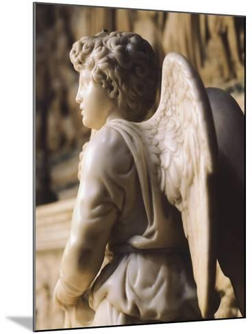 Angel Candelabra for the Ark of St Dominic-Michelangelo Buonarroti-Mounted Giclee Print