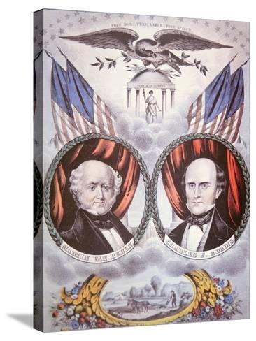 Presidential Campaign Poster Depicting Martin Van Buren--Stretched Canvas Print