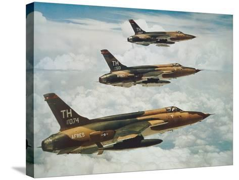 Us Air Force Republic F-105 Thunderchief Fighters--Stretched Canvas Print