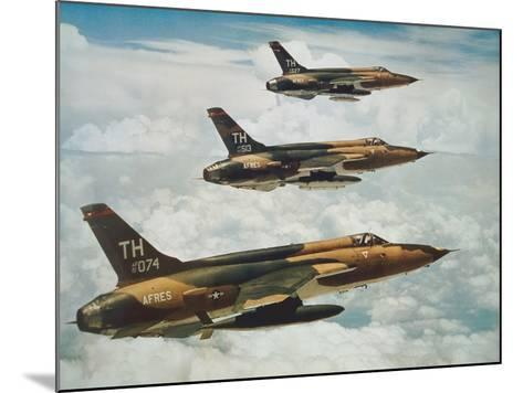 Us Air Force Republic F-105 Thunderchief Fighters--Mounted Giclee Print