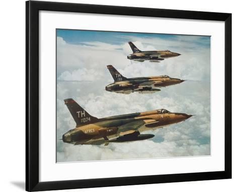 Us Air Force Republic F-105 Thunderchief Fighters--Framed Art Print