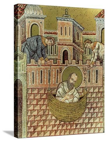 St. Paul Escapes Damascus in a Basket, 12th-13th Century--Stretched Canvas Print