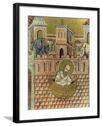 St. Paul Escapes Damascus in a Basket, 12th-13th Century--Framed Art Print