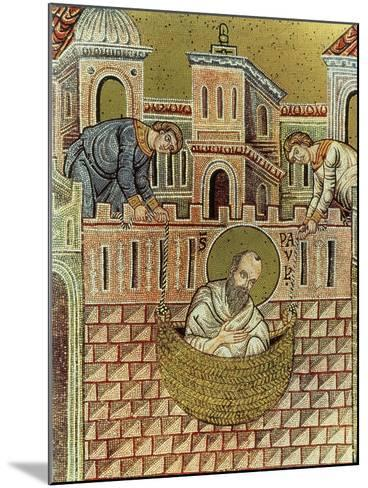 St. Paul Escapes Damascus in a Basket, 12th-13th Century--Mounted Giclee Print