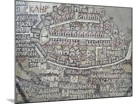 Detail of a Byzantine Mosaic Depicting City of Jerusalem--Mounted Giclee Print