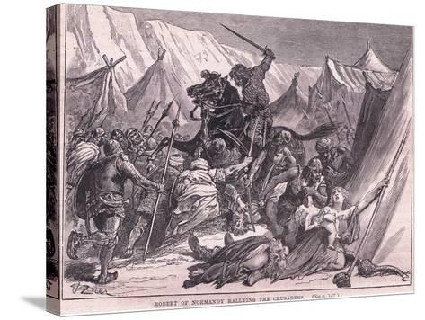 Robert of Normandy Rallying the Crusad Ers Ad 1097-Francois Edouard Zier-Stretched Canvas Print