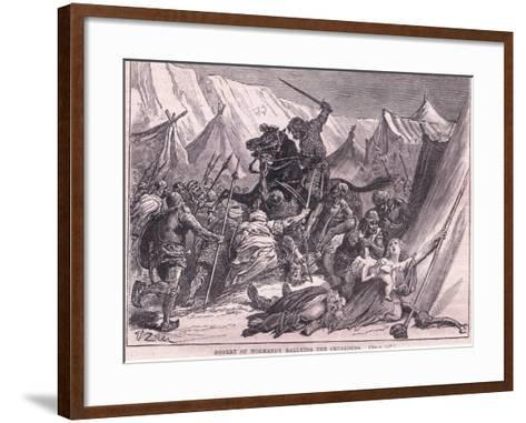 Robert of Normandy Rallying the Crusad Ers Ad 1097-Francois Edouard Zier-Framed Art Print