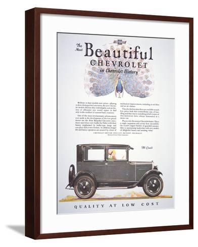Advertisement for the Chevrolet Motor Company, 1927--Framed Art Print