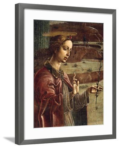 Annunciation, Organ-Shutter Wood in Cathedral of Ferrara-Cosme Tura-Framed Art Print