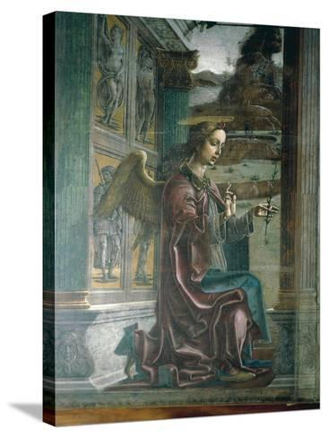 Annunciation, Organ-Shutter Wood in Cathedral of Ferrara-Cosme Tura-Stretched Canvas Print