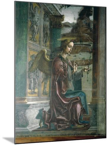 Annunciation, Organ-Shutter Wood in Cathedral of Ferrara-Cosme Tura-Mounted Giclee Print