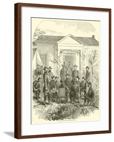 Sherman in Council Decides to Raise the Siege of Atlanta, July 1864--Framed Art Print