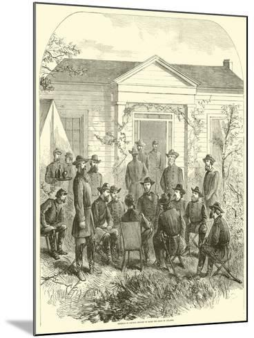 Sherman in Council Decides to Raise the Siege of Atlanta, July 1864--Mounted Giclee Print