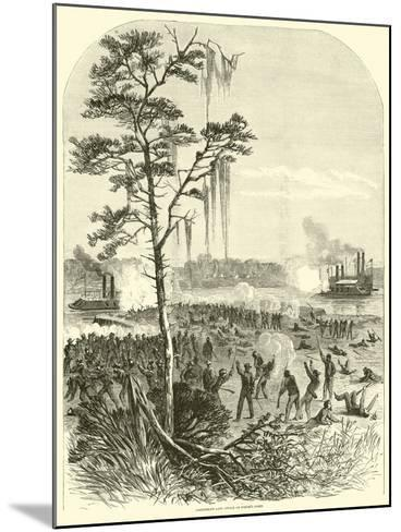 Confederate Land Attack on Porter's Fleet, April 1864--Mounted Giclee Print