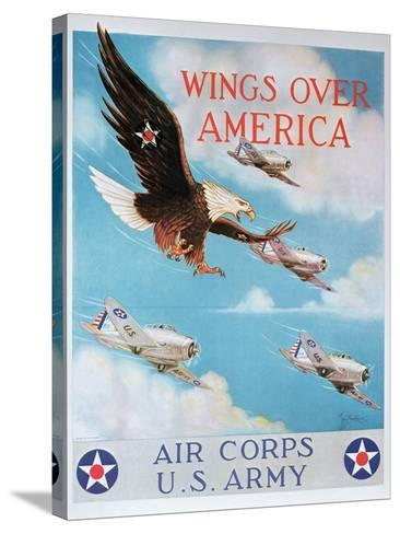 Wings of America'- Us Air Corps Recruiting Poster, 1938--Stretched Canvas Print