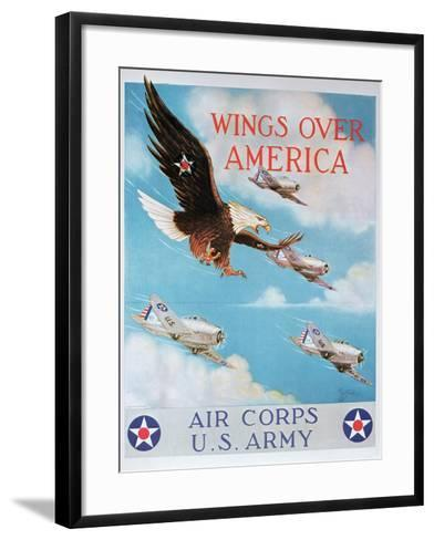 Wings of America'- Us Air Corps Recruiting Poster, 1938--Framed Art Print