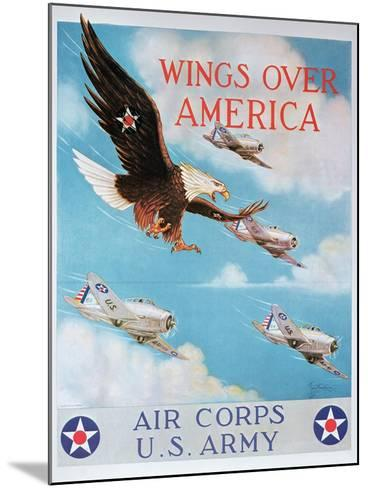 Wings of America'- Us Air Corps Recruiting Poster, 1938--Mounted Giclee Print