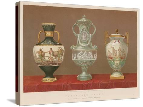 Porcelain Vases from the Imperial Manufactory, Sevres--Stretched Canvas Print