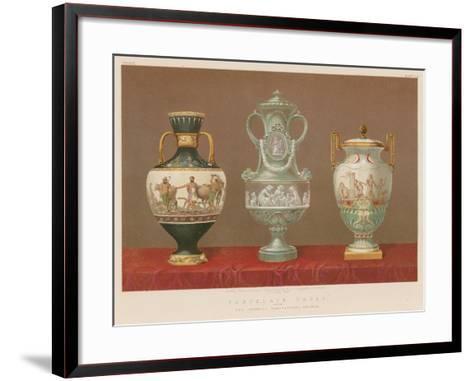 Porcelain Vases from the Imperial Manufactory, Sevres--Framed Art Print