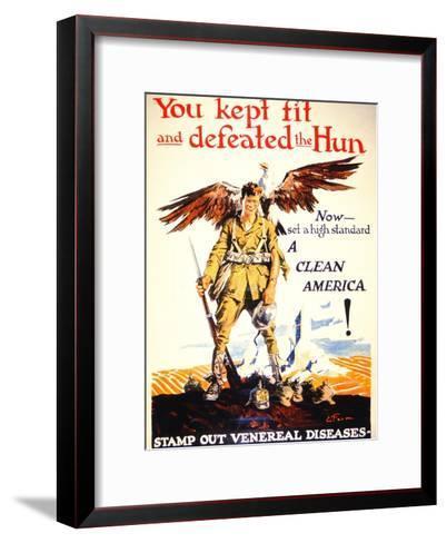 Stamp Out Venereal Diseases', 1st World War Poster, C.1918--Framed Art Print