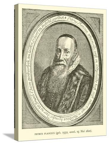 Petrus Plancius, Dutch Astronomer, Cartographer and Clergyman--Stretched Canvas Print